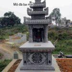 mộ 3 mái bằng đá NB 12