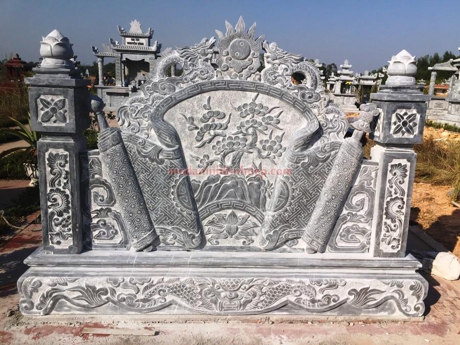 cuốn thư đá ở khu lâng mộ