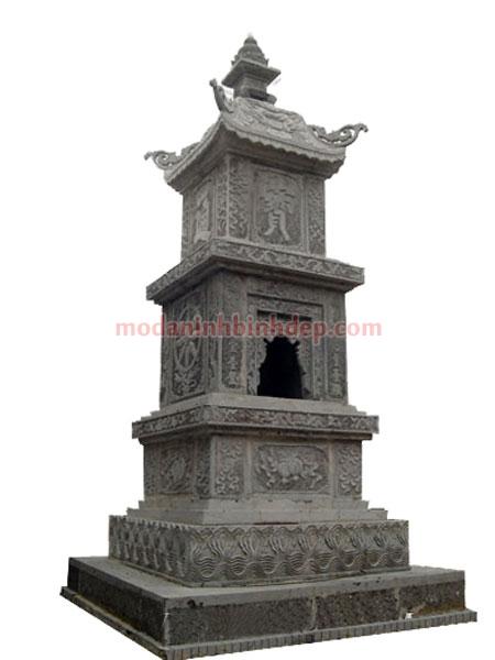 Mẫu mộ tháp bằng đá NB 02