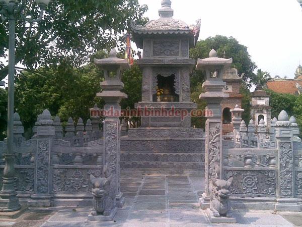 Mẫu mộ tháp bằng đá NB 03
