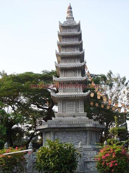 Mẫu mộ tháp bằng đá NB 06