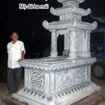 Mẫu mộ đá ba đao đẹp NB 09