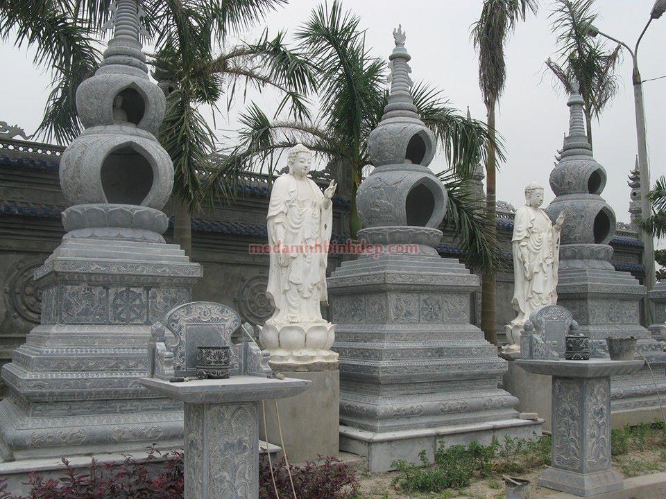 Mẫu mộ tháp bằng đá NB 11