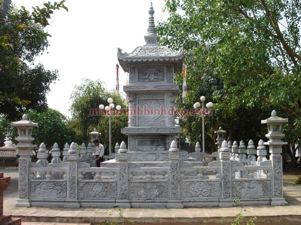 Mẫu mộ tháp bằng đá NB 04