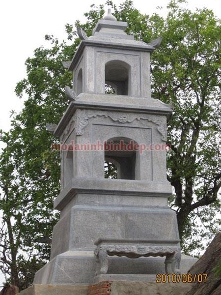 Mẫu mộ tháp bằng đá NB 05