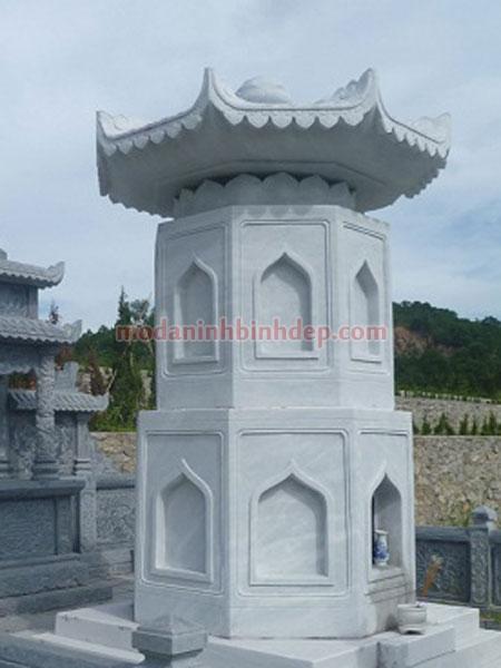 Mẫu mộ tháp bằng đá NB 08