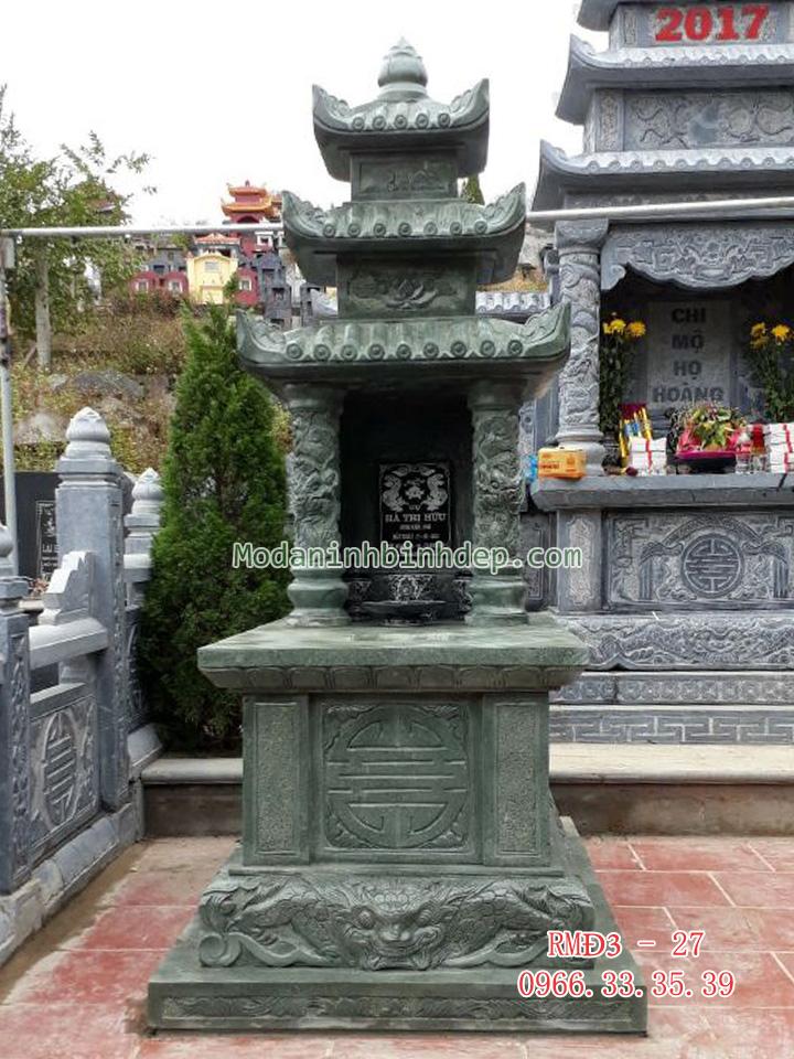 Mẫu mộ đá đẹp ba đao