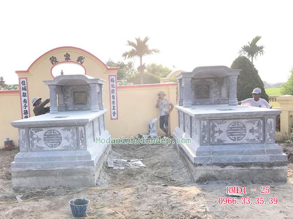 Mẫu mộ đá một mái vòm cao cấp
