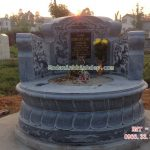 Mẫu mộ tròn bằng đá RMT-77