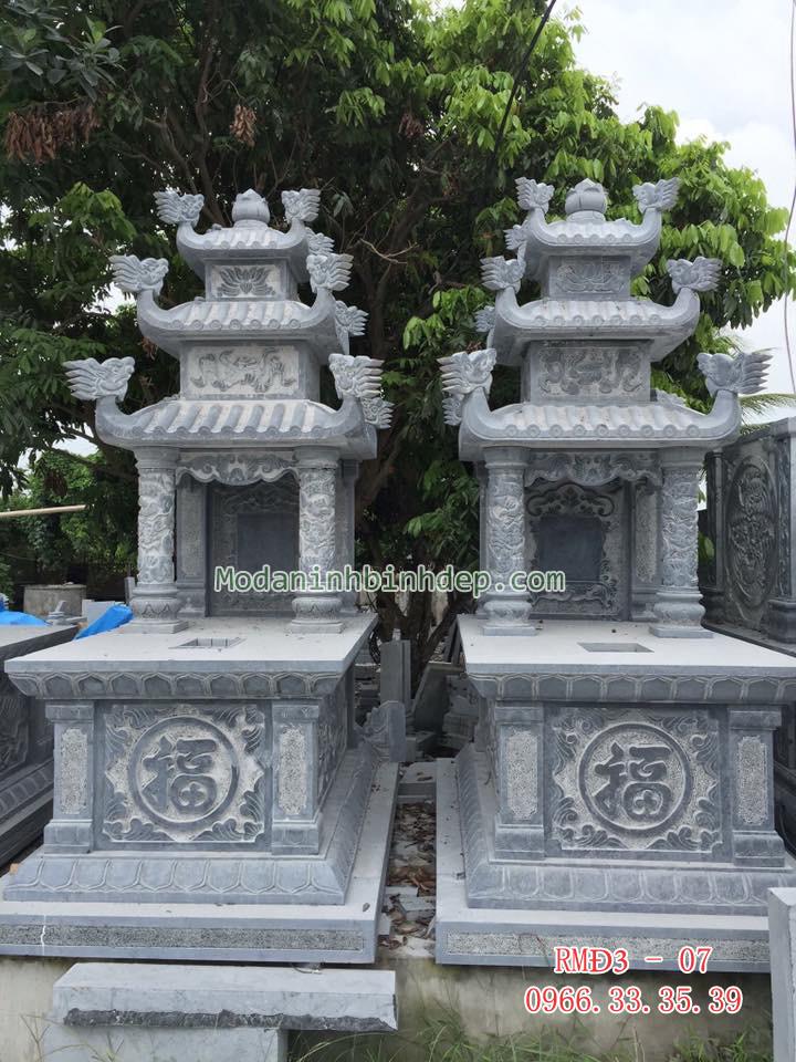 Mẫu mộ đá ba mái đẹp