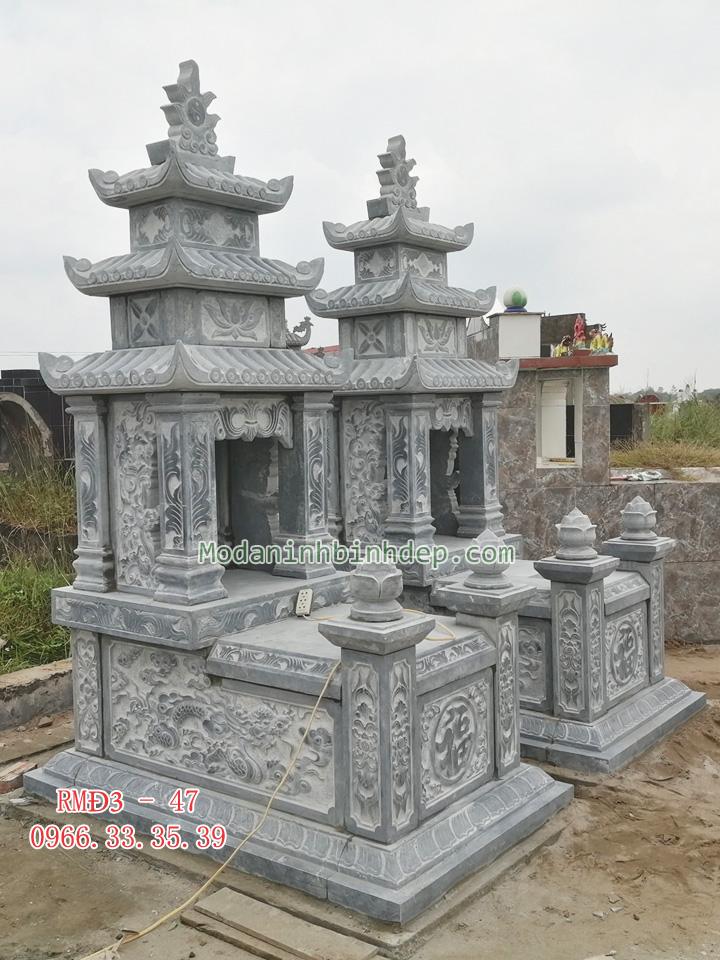 Các mẫu mộ đá ba mái đẹp