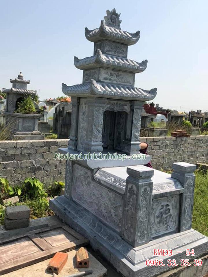 Những mẫu mộ đá ba mái đẹp