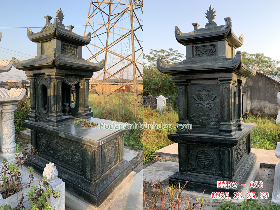 Các mẫu mộ đá hai mái đẹp