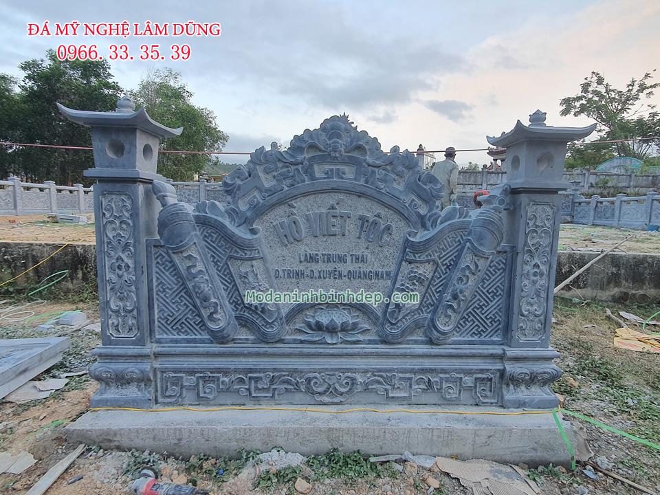 Mẫu khu lăng mộ đá đẹp