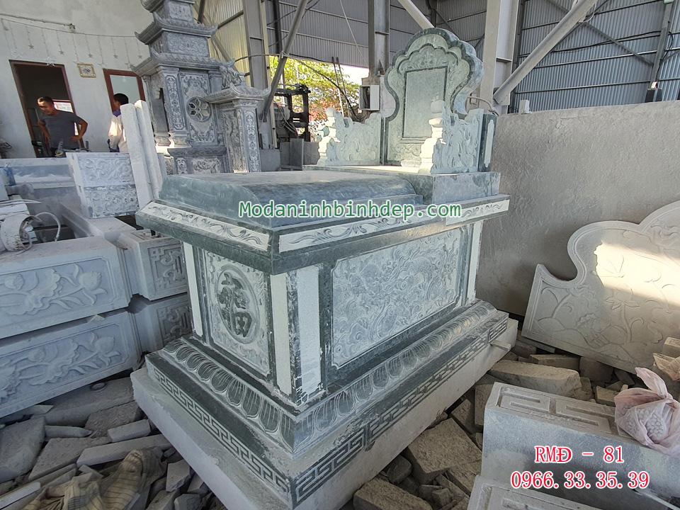 Mẫu mộ đá không mái đẹp